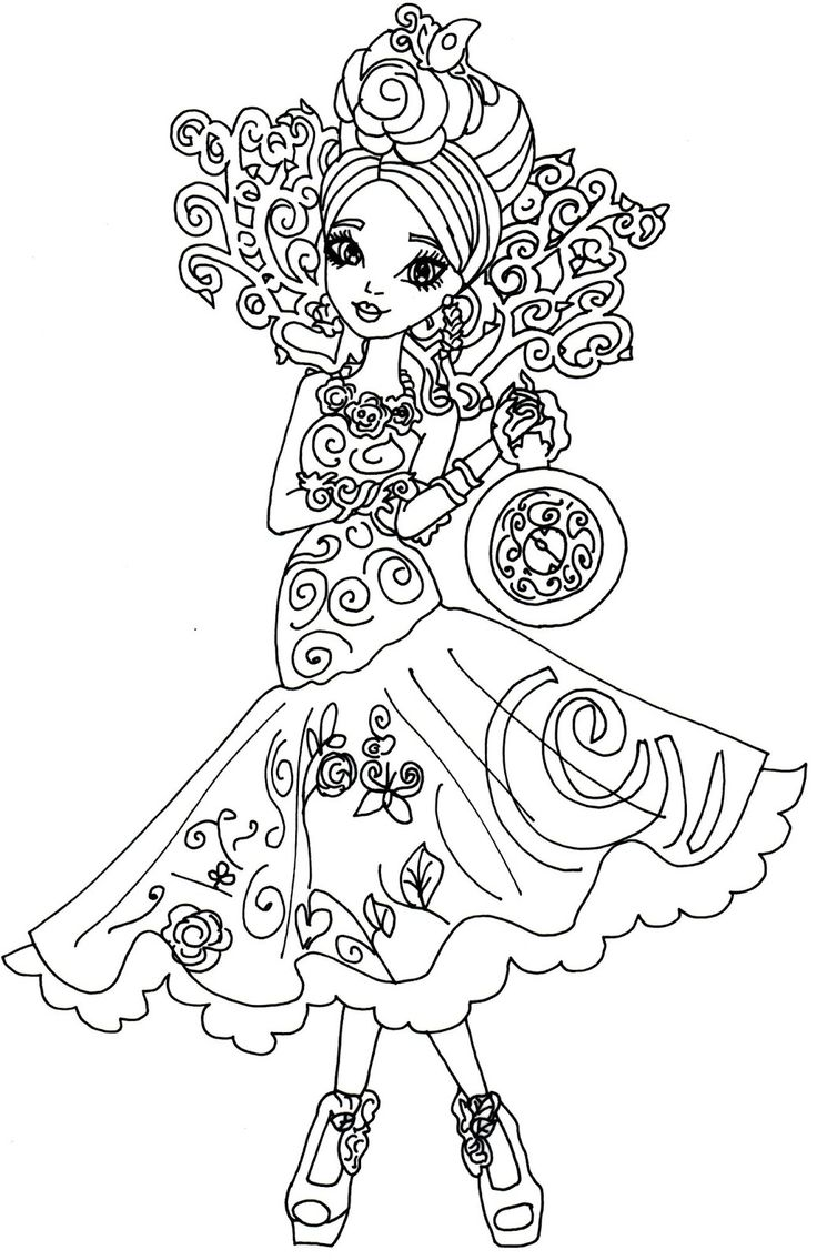 Ever after high coloring pictures - Free Printable Ever After High Coloring Pages Briar Beauty