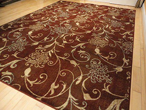 Sluxury Premium Soft Rugs 8x11 Burgundy Modern Area Rugs Large Carpet with Burgundy Blue Cream Beige Tree Branch Flower Pattern 8x10 Contemporary Rugs for Living Room (Large 8'x11') AS Quality Rugs http://www.amazon.com/dp/B017FSAAYK/ref=cm_sw_r_pi_dp_EHX.wb0F0A188