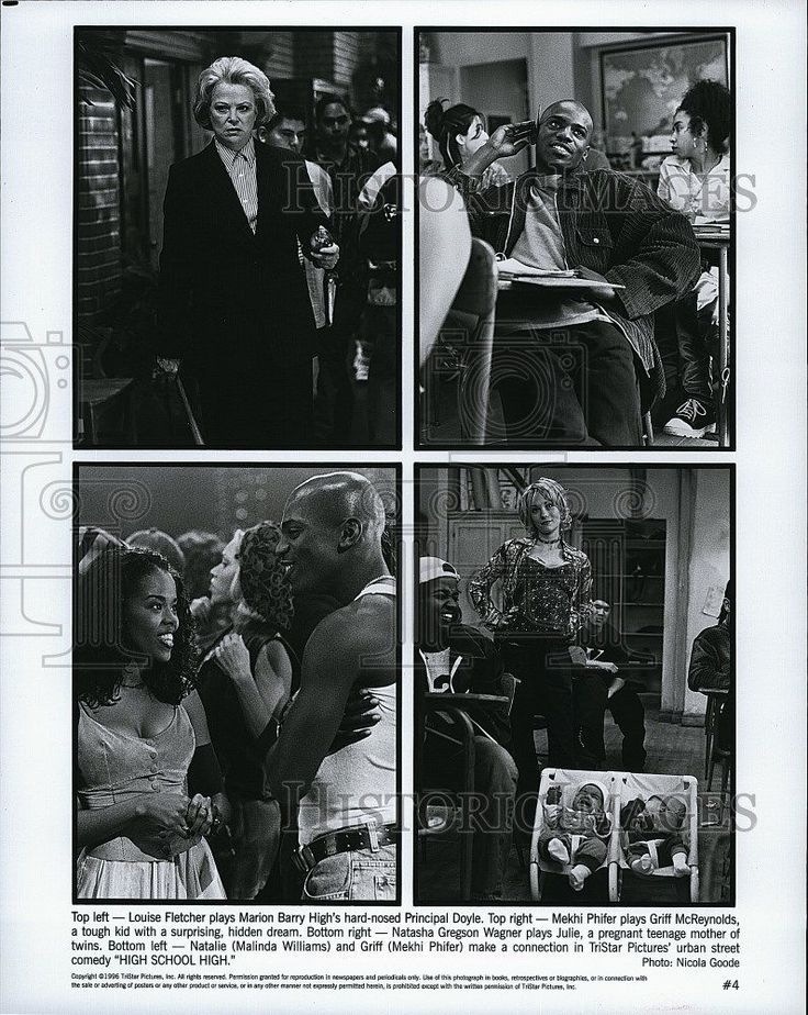 "1996 Press Photo Actress Louise Fletcher & Malinda Williams in ""High School High"
