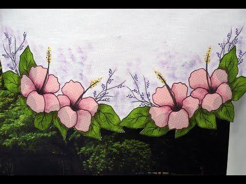 Vida com Arte   Toalhinha com pintura e aplicação de flores por Márcia Caires - 29 de Dezembro - YouTube