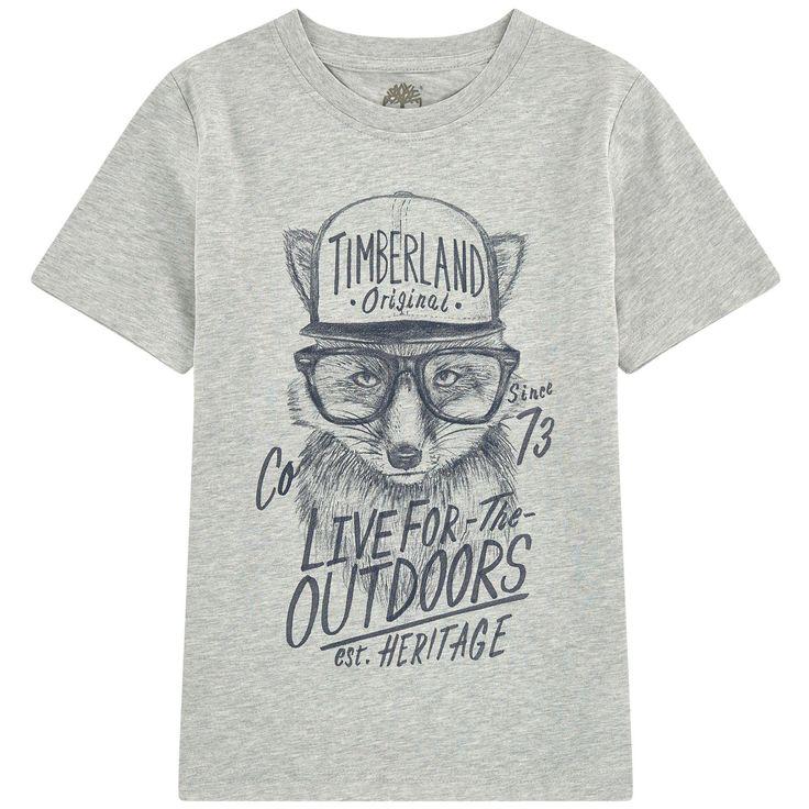 Timberland - T-shirt illustré en coton bio - 157712