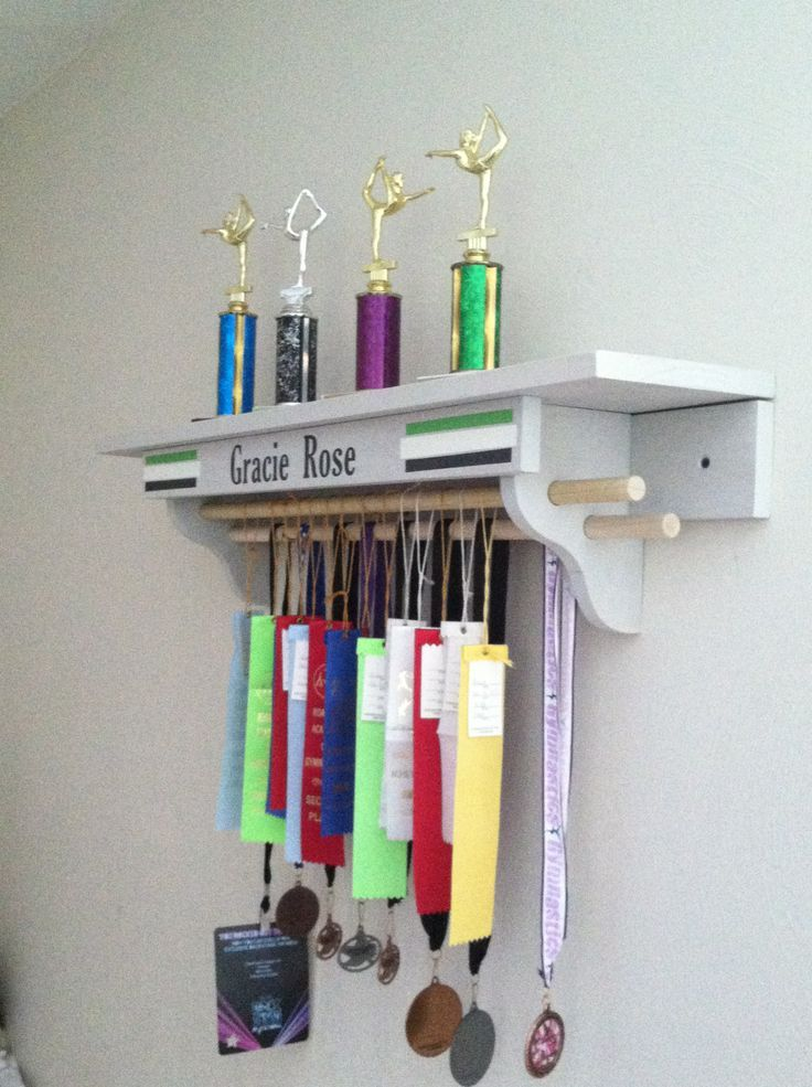 gymnastics trophy and medal shelf - Google Search