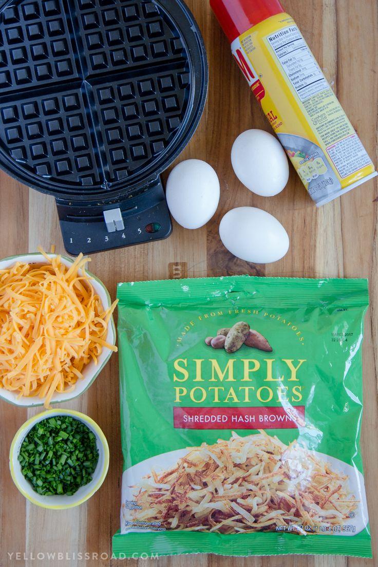 Egg & Cheese Hash Brown Waffles Easy Breakfast Hack