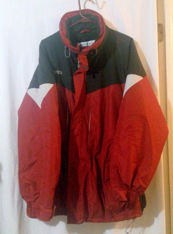 Men's COLUMBIA Burgundy Red Winter Parka Style Jacket Size XL #Columbia #Parka