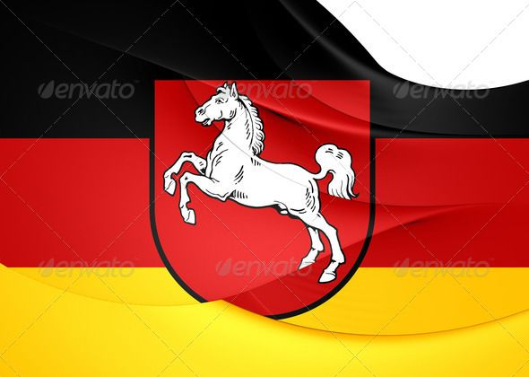 Flag of Lower Saxony, Germany. ...  3d, Lower Saxony, Niedersachsen, arms, background, banner, close-up, coa, coat of arms, coats, curve, emblem, ensign, europe, european, fahne, flag, flagge, fluttering, full, german, germany, horizontal, illustration, insignia, land, lower, macro, neddersassen, region, render, saxony, seal, state, symbol, three-dimensional, wappen, wave, waving, white, wind