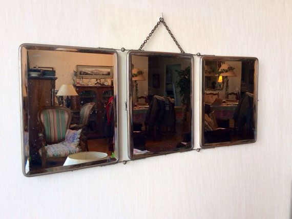 17 best images about miroirs vintage on pinterest - Miroir triptyque de barbier ...