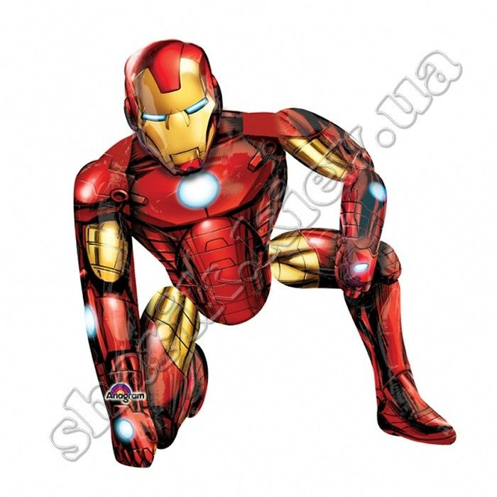 Ходячая фигура Железный человек. #ironman #железныйчеловек #воздушныйшарик #миршариков