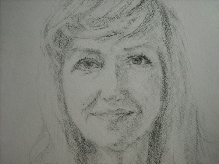 This is a sketch (pencil on paper) of Henryka portrait which I will paint in oil on canvas.