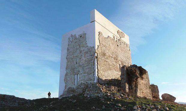 Le rovine del Castello di Matrera, nella regione di Cadice, sono state consolidate e restaurate da Carlos Quevedo Rojas dello studio andaluso Carquero Arquitectura, specializzato nel recupero del patrimonio storico. (Foto Carlos Quevedo Rojas)