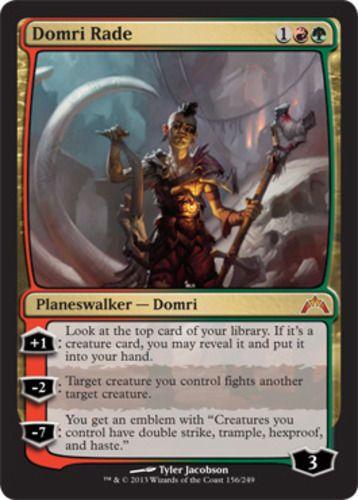 Domri Rade Magic the Gathering Gatecrash mythic rare planeswalker card mtg