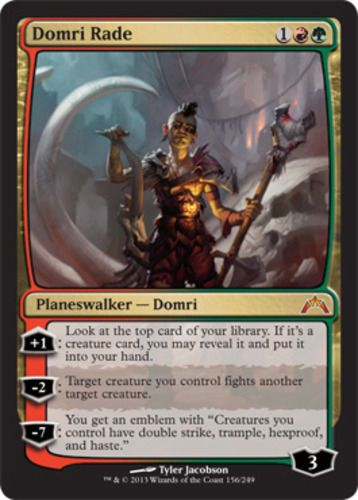 Domri Rade red green planeswalker mythic rare Magic the Gathering card