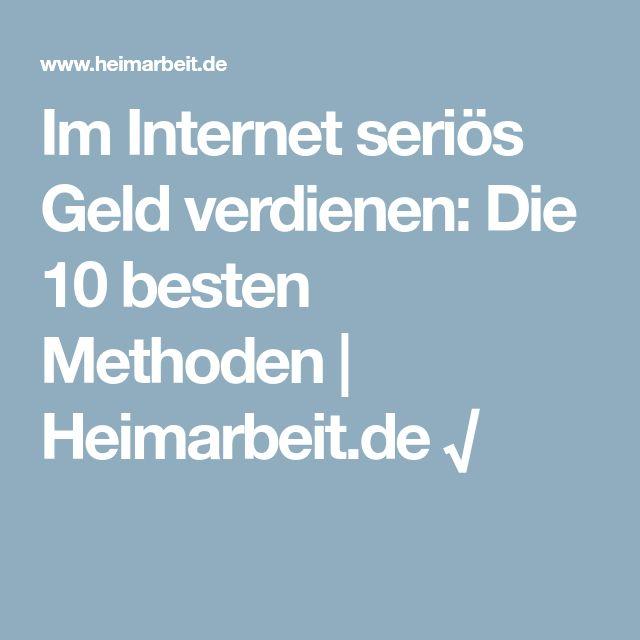 Im Internet seriös Geld verdienen: Die 10 besten Methoden | Heimarbeit.de √