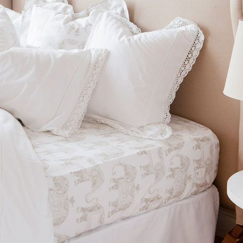 Elephant percale fitted sheet bedding bedroom zara - Zara home es ...