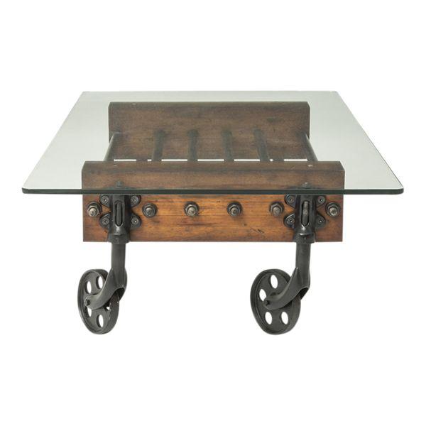 The Masonic Glass Cart Coffee Table designed by Beekman 1802 in Sharon Springs, NY | shop.beekman1802.com