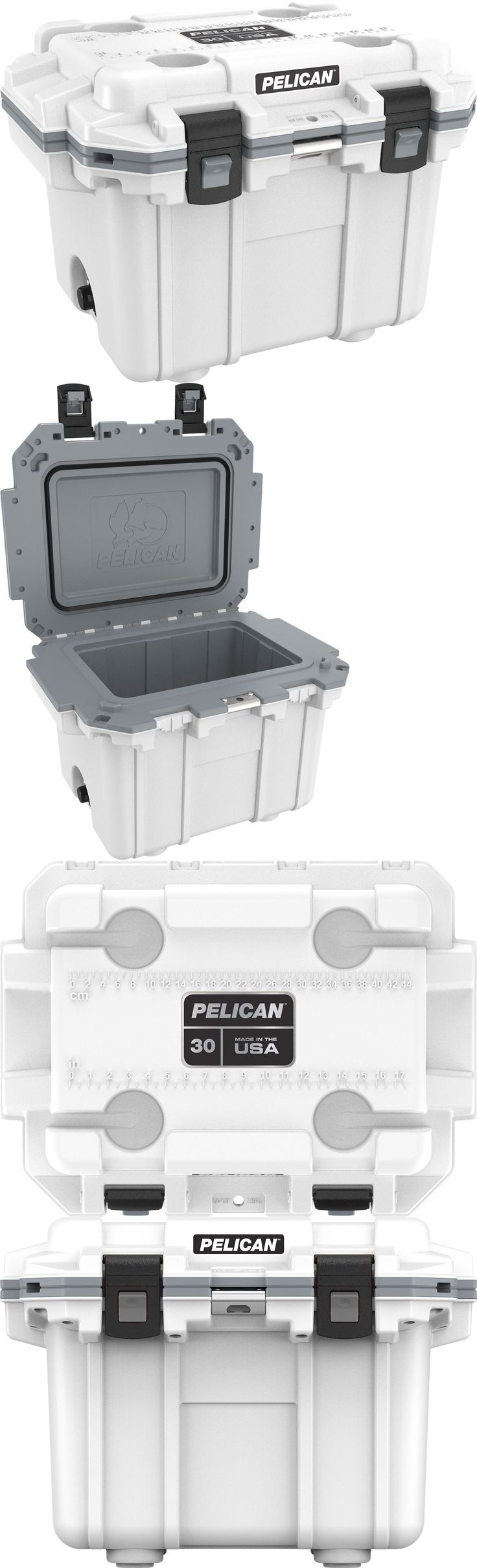 Camping Ice Boxes and Coolers 181382: Pelican Products 30 Quart Cooler White Grey 30Q-1-Whtgry -> BUY IT NOW ONLY: $215 on eBay!