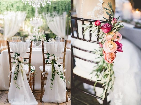 25 beste idee n over bruiloft stoelen op pinterest - Versier een entree ...