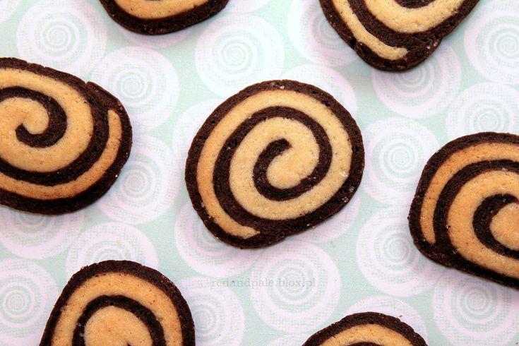 Ciasteczka kawowe ślimaczki / coffee pinwheel cookies