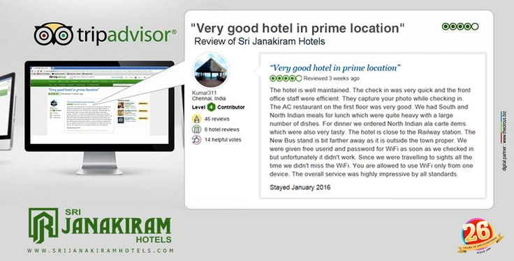 Here is an other Happy Guest Kumar from Chennai, reviewed and rated us in Tripadvisor. We thank our guest for giving the valuable feed back. ‪#‎tripadvisor‬ ‪#‎feedback‬ ‪#‎guest‬ ‪#‎bangalore‬ ‪#‎reviewed‬ ‪#‎happy‬ ‪#‎customer‬