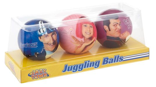lazy town Juggling Balls Little ones can learn how to juggle with the fantastic Lazy Town juggling balls set, with 3 balls each featuring a different Lazy Town character, Lazy Town Juggling Balls Set from Big Red Warehouse, l http://www.comparestoreprices.co.uk/outdoor-toys/lazy-town-juggling-balls.asp