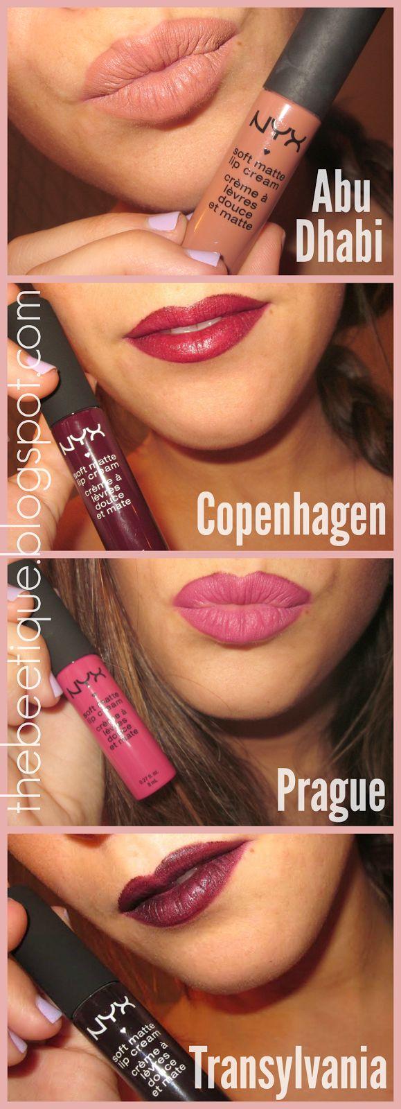 NYX Soft Matte Lip Cream Haul Nyx soft matte lip cream
