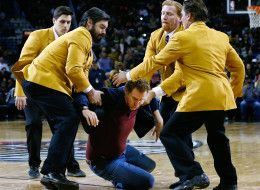 Will Ferrell Hits A Cheerleader In The Face With A Basketball