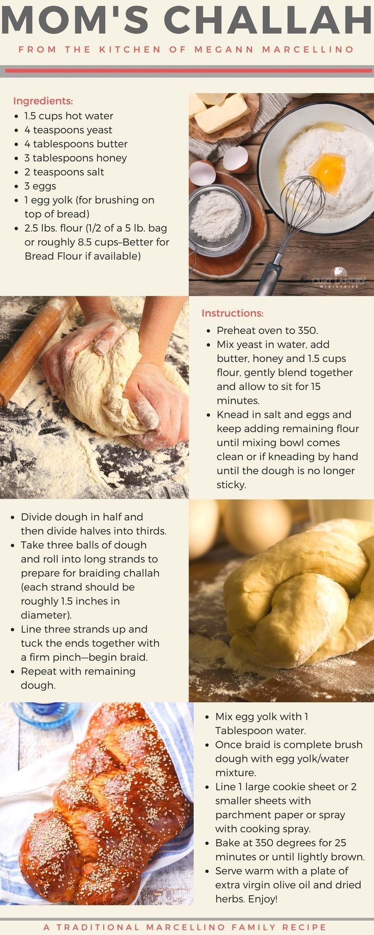 Mom's Challah: From the kitchen of Megann Marcellino