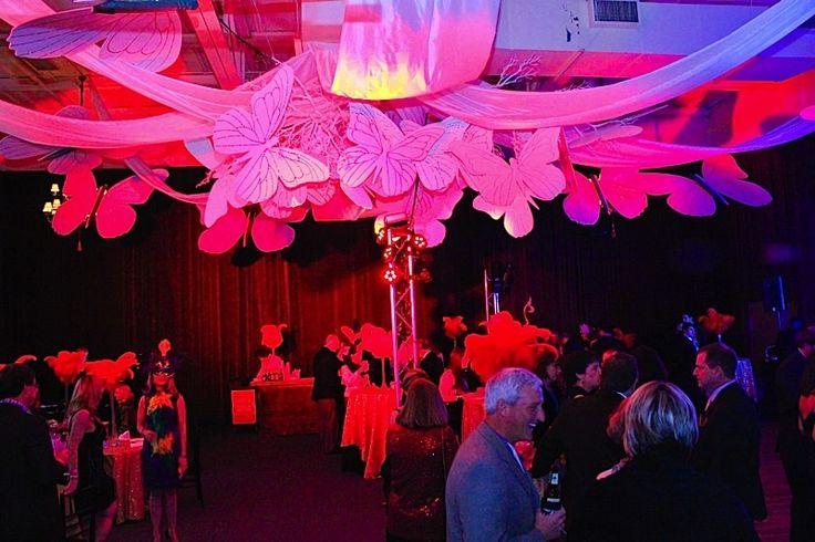 Cirque du Soleil themed event #pink #lights #party