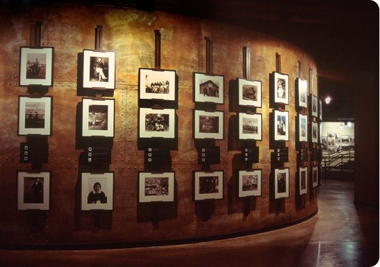 Double Dare Design - Storyeum, custom designed and built archival photography display