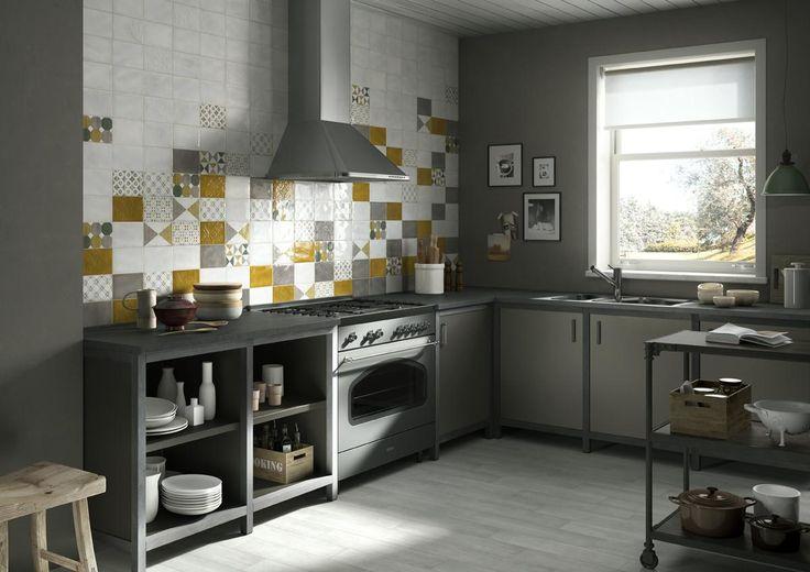 IMOLA 1874 Tiles, kitchen country-style ceramic double firing [AM IMOLA 1874 2]