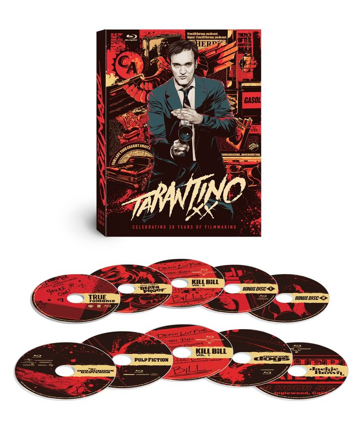 Tarantino XX: 8-Film Collection (Reservoir Dogs / True Romance / Pulp Fiction / Jackie Brown / Kill Bill: Vol. 1 / Kill Bill: Vol. 2 / Death Proof / Inglourious Basterds) [Blu-ray]