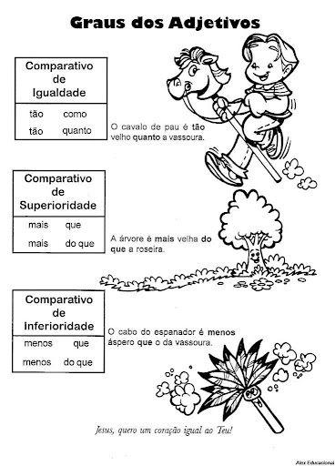 Adjetivo Gramatica Ling Port 26 Jpg 368 512 Pixels Atividades