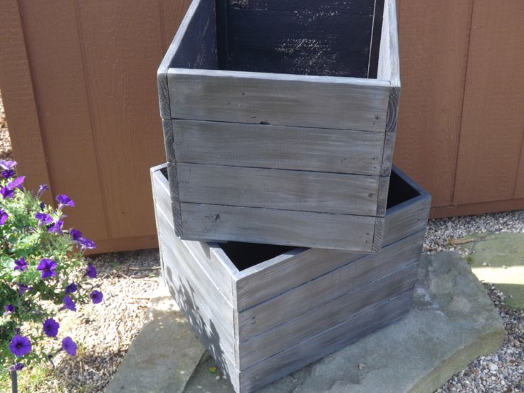 Wood planter box/Painted/stained planter boxes/flower box/storage/Mud room storage by Rustiek on Etsy https://www.etsy.com/listing/195947152/wood-planter-boxpaintedstained-planter