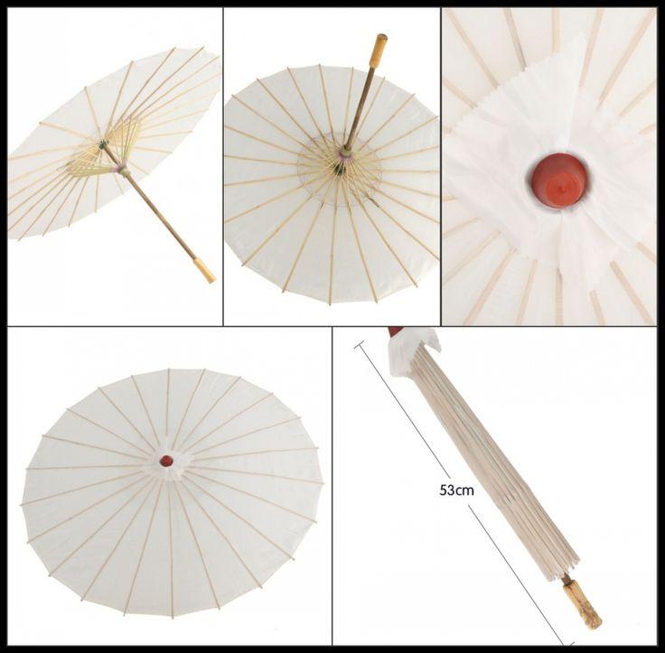 Pas cher 5 pcs/lot livraison gratuite blanc soie parasol Chinois parapluie pour…