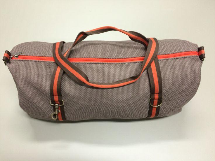mod. 6 - light brown bag - brown/orango/brown stripes