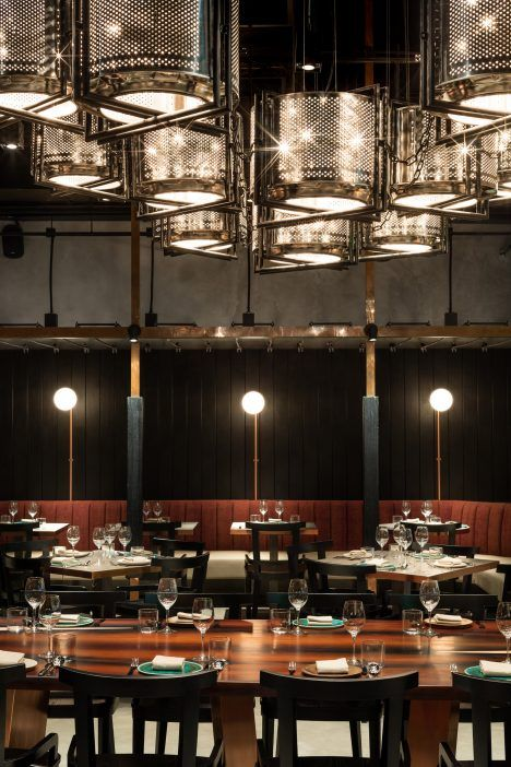 Joyce Wang Studio burns and smokes Rhoda restaurant interior to reflect chef's techniques
