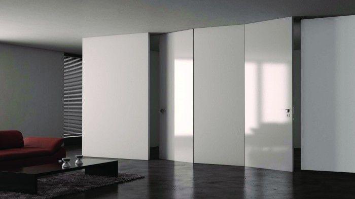 PIU Design: lakierowane drzwi do sufitu, wykonane w technologii Aluminium Design