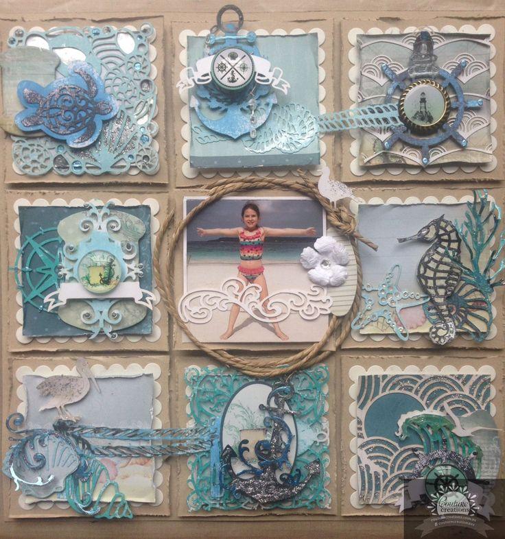 Artdeco Creations Brands: Sea Breeze Sampler Layout by Alison Bevis