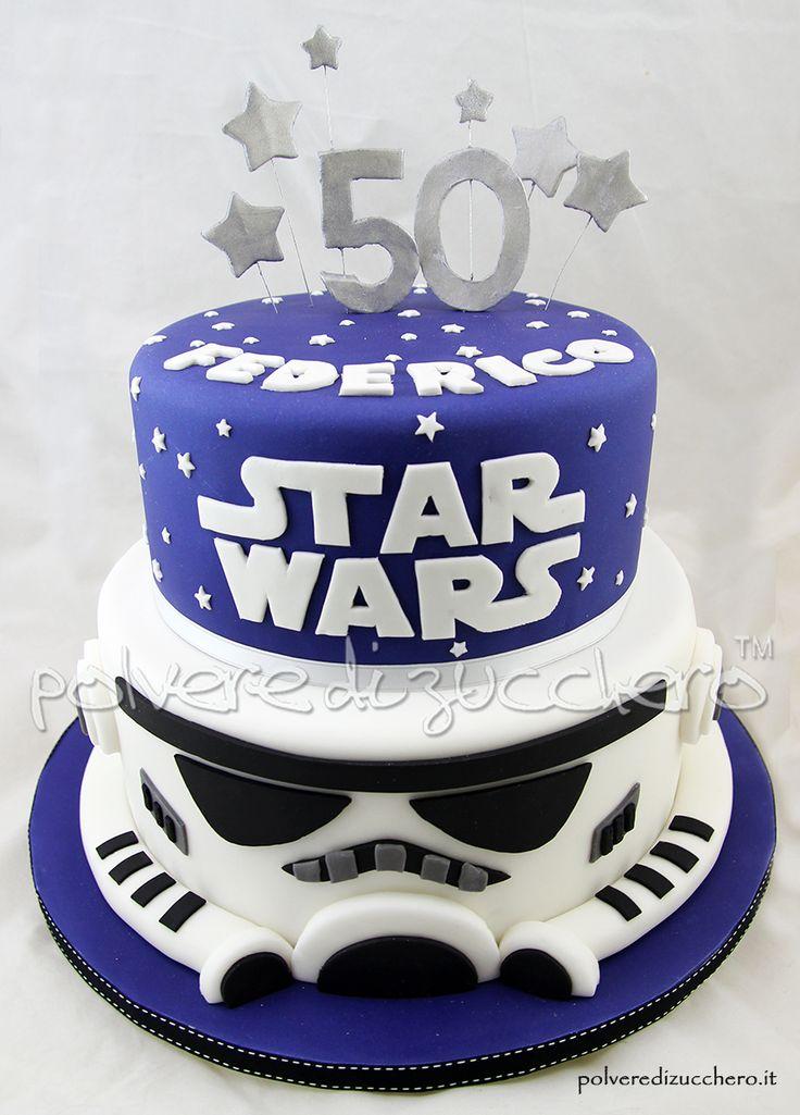 Torta star wars a due piani per un 50 compleanno star for 30x30 piani di piani a 2 piani