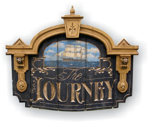 The Journey by VintageSignArt on Etsy, $575.00