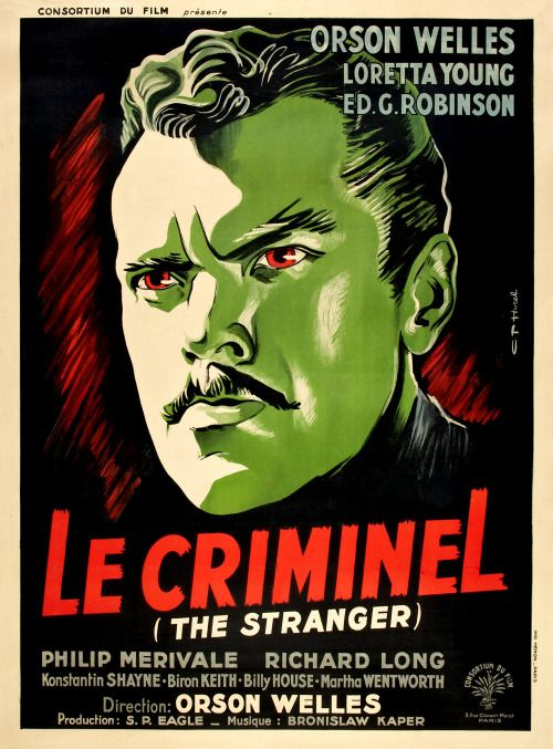 Don't miss Orson Welles' gripping noir The Stranger playing today on getTV, 1:00 PM/PT. Visit http://www.get.tv/schedule for NOIR CITY supporter getTV's full January line-up.THE STRANGER (1946): A small-town schoolteacher (Loretta Young) encounters a determined investigator (Edward G. Robinson) who suspects her new husband (Orson Welles) may be an escaped Nazi war criminal. Can he convince her before it's too late? Dir. Orson WellesSee you tonight at the Castro Theatre for the festive…