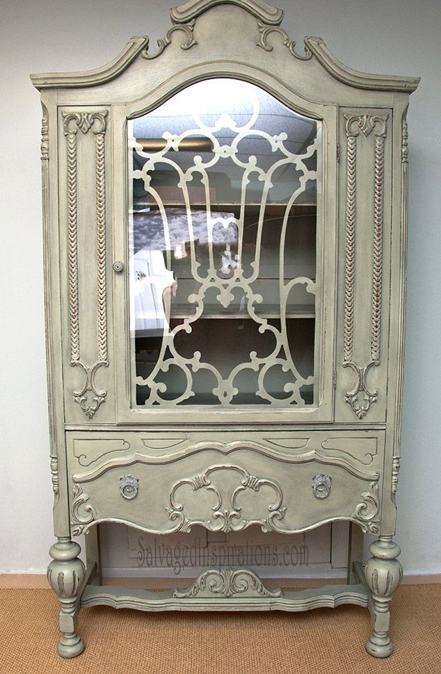 Salvaged Inspirations | China Cabinet Painted w Homemade ChalkPaint Recipe