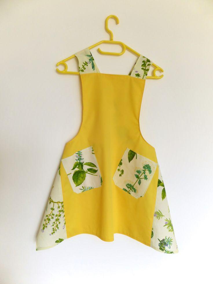 #apron #avental #anaïf #amarelo cross back apron
