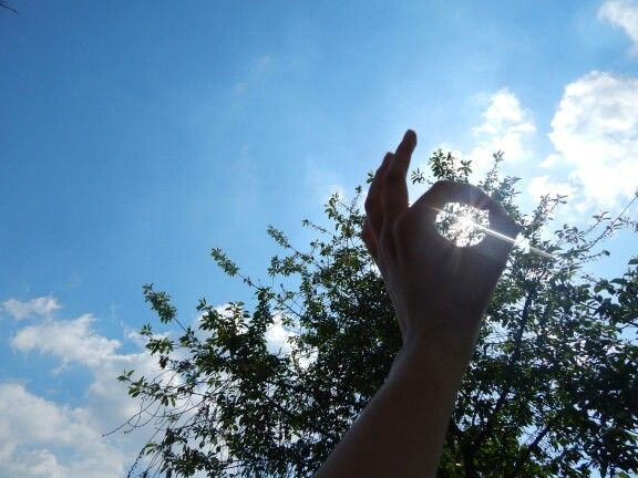 I see the sun