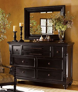 Tommy Bahama Home Kingstown Stony Point Triple Dresser & Fairpoint Mirror - Just bought this---LOVE IT!!  We did not get the mirror because we are going to hang a TV on the wall