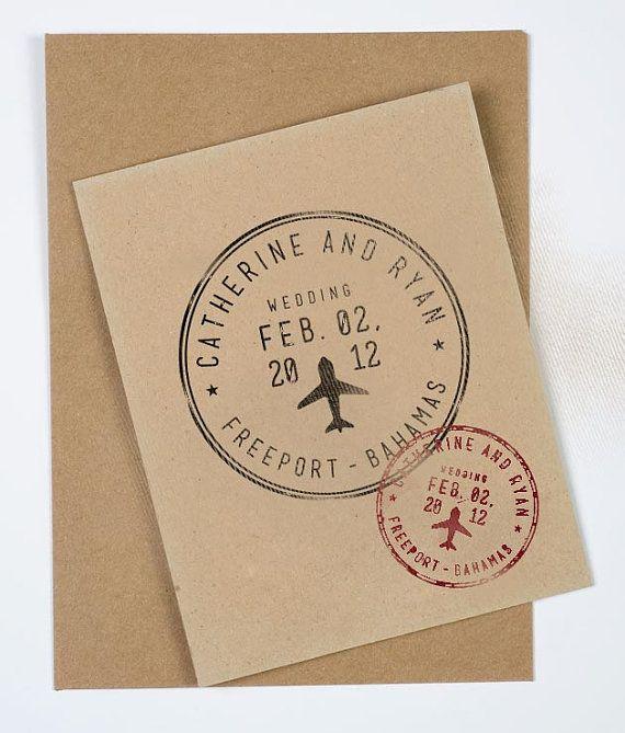 Passport Wedding Stamp Personalized Destination by RookDesignCo, $22.00