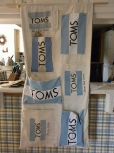 TOMs shoe tree... i want to do this with all my TOMs flags...