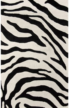 Serendipity Zebra Print Brown Rug | Contemporary Rugs