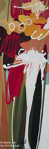 Sophie Paquet, 'Sorbet', 10'' x 30'' | Galerie d'art - Au P'tit Bonheur - Art Gallery