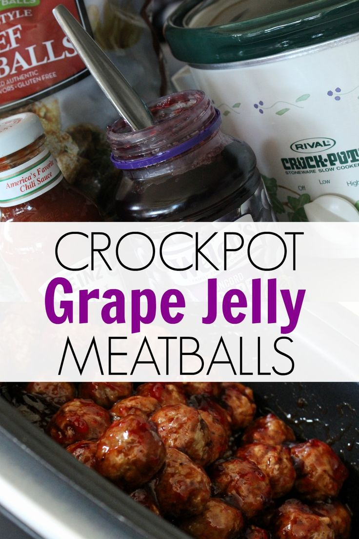 This Grape Jelly Meatballs Recipe Is A Three Ingredient