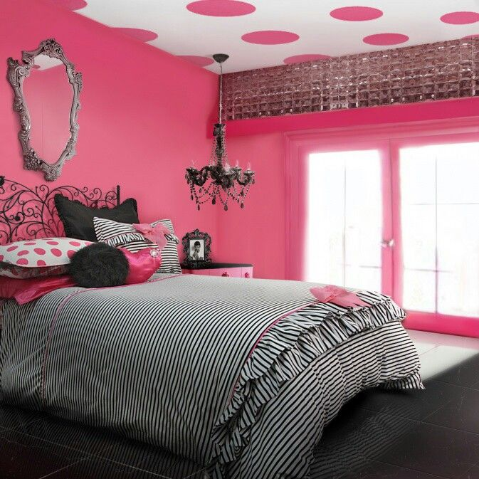17 Best Ideas About Pink Black Bedrooms On Pinterest